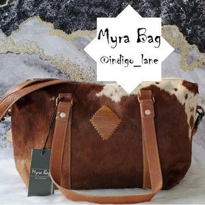 "Myra ""Leather Lust"" Leather & Hair-on Duffle Bag"